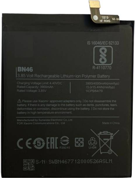 YaeBuy Mobile Battery For  Xiaomi Xiaomi Mi Note 6