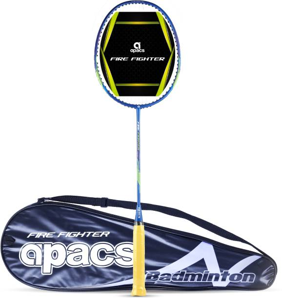 apacs Fire Fighter Blue, Yellow Strung Badminton Racquet