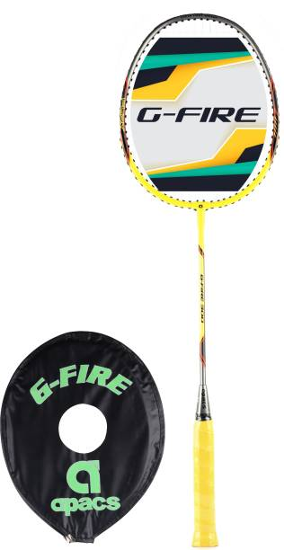 apacs G-Fire 300 Yellow, Grey Strung Badminton Racquet