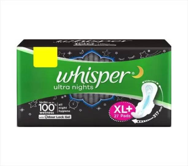 Whisper Bindazzz Nights XL Plus Wings Sanitary Pad
