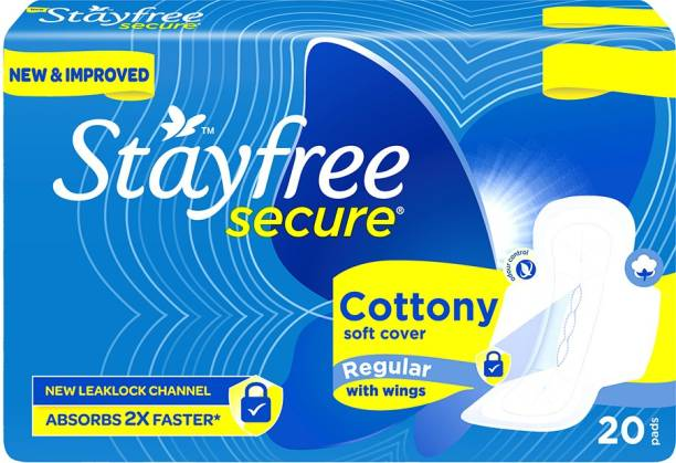 STAYFREE Secure Cottony Soft Regular Wings Sanitary Pad