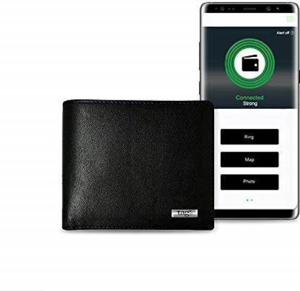Tag8 Men & Women Trendy Black Genuine Leather Wallet