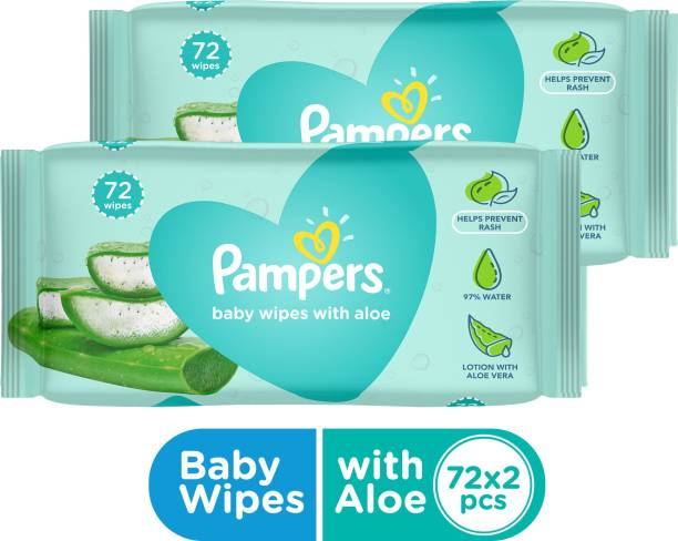 Pampers Baby Wipes with Aloe 144 Count