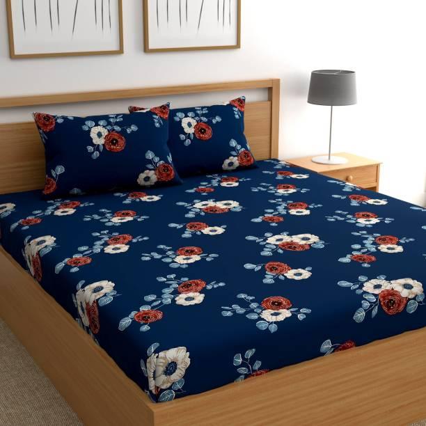 Flipkart SmartBuy 160 TC Microfiber Double Floral Bedsheet
