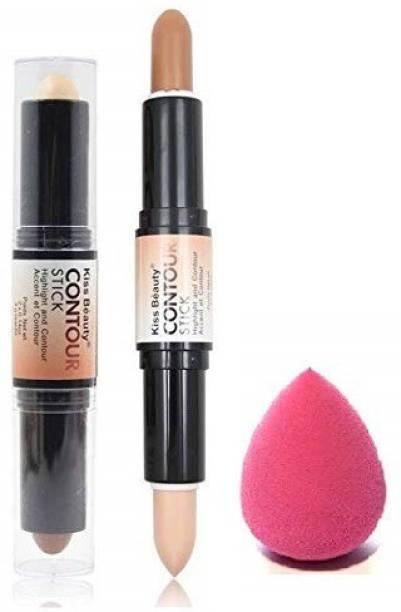 AVEU Concealer Bronzer Highlighter Stick 3D Contour Balm Shadow Base Cosmetic Face Primer Makeup Cream Waterproof Stick Concealer
