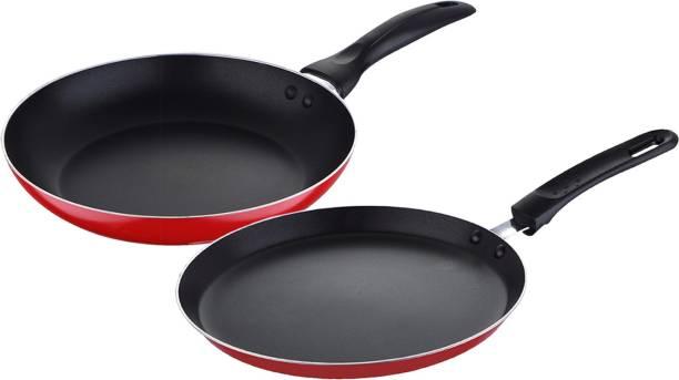 WELLBERG Essential Press Aluminium Cookware set, Red, WBIN-2483 Cookware Set
