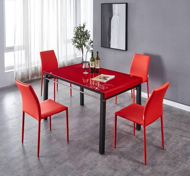 KRIJEN Ashton Metal 4 Seater Dining Set
