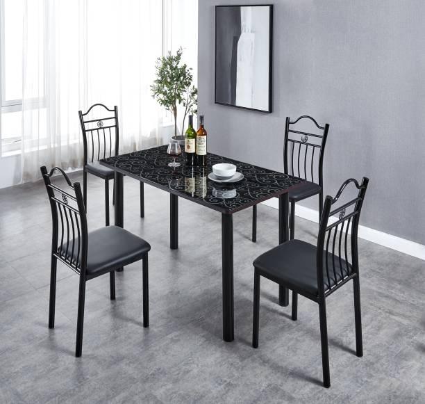 KRIJEN Evelyn Metal 4 Seater Dining Set