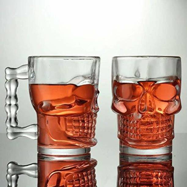 BRIGHTLIGHT (Pack of 2) Multi-ply Beer Mug - 2 Pieces Glass Set