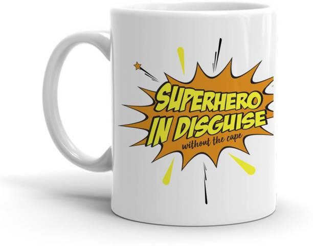 HOT MUGGS Superhero In Disguise Ceramic Coffee Mug