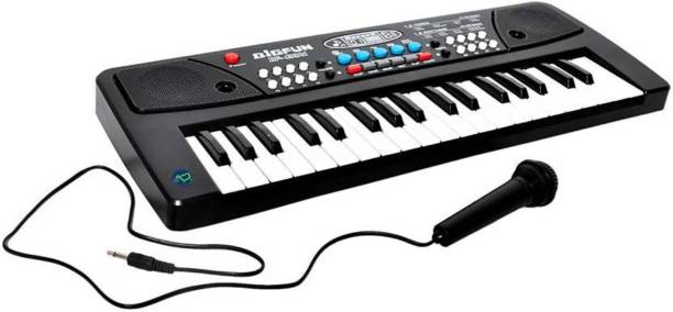 A R ENTERPRISES 37 Key Piano Keyboard Toy with DC Power Option, Mic and Recording