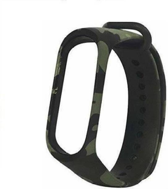 Tdoc Premium Quality Replacement Strap for Xiaomi Mi Band 5 | Xiaomi Band 5 Strap & Mi Band HRX Edition Strap Green Camouflage|Straps Military Army Style Smart Band 3 Strap Smart Watch Strap