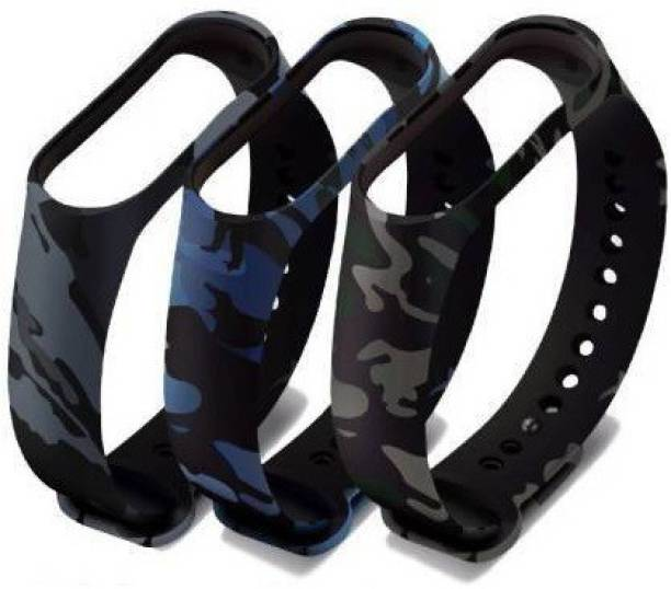 Tdoc Camouflage Replacement Strap For for iaoi i Band 5 | Xiai Band 5 Band Smart Band Strap Pack of 3 Smart Band Strap Smart Band Strap