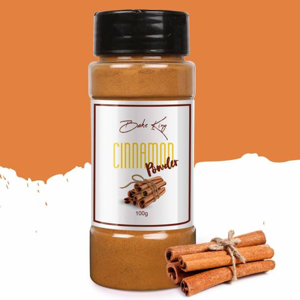 Bake King Cinnamon Powder 100g (Dalchini Powder) Cinnamon Powder for Weight Loss, Cooking, Natural Immunity Booster, Easy To Use Sprinkle Bottle, Cinnamon Powder Organic.