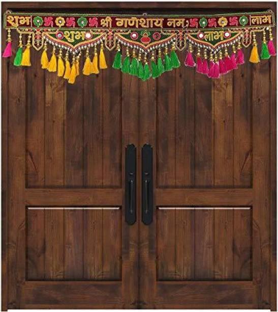 CraftVatika Shubh Labh Door Hanging Toran Bandarwal For Main Door Wall Hanging Diwali Decoration Toran