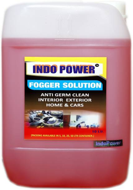 INDOPOWER FOGGER SOLUTION Anti Germ Clean (Interior Exterior Home & Cars ) 10ltr. MULTI