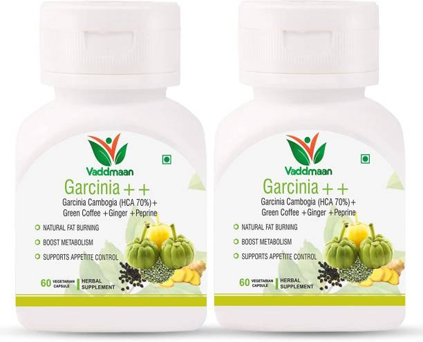 vaddmaan Garcinia++ Keto Advanced Weight Loss Supplement Natural Advanced Fat Burner with Garcinia Cambogia (HCA 70%) Green Coffee Bean, Black Pepper Extracts (Pack of 2)