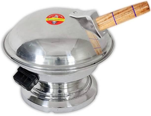 Hydroshell Aluminum Tandoor Bati Maker Baking Oven, 1 Piece, Silver Gas Tandoor, Barbecue Grill Food Steamer Cookware Set (Aluminium, 1 - Piece) Food Steamer