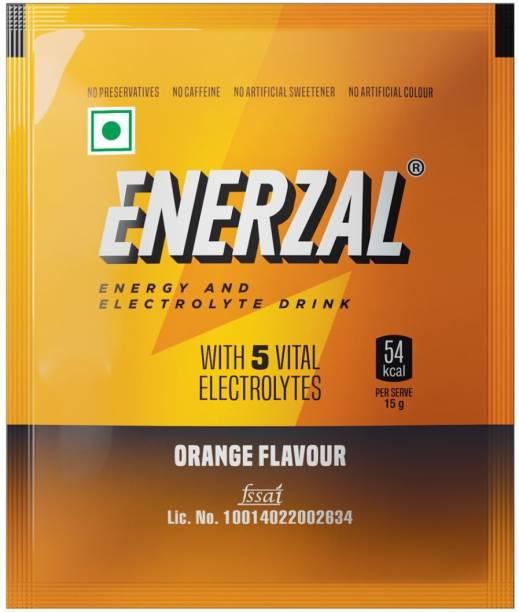 Enerzal Energy Drink Powder Orange Flavour 50 GM Each (Pack of 10) Energy Drink