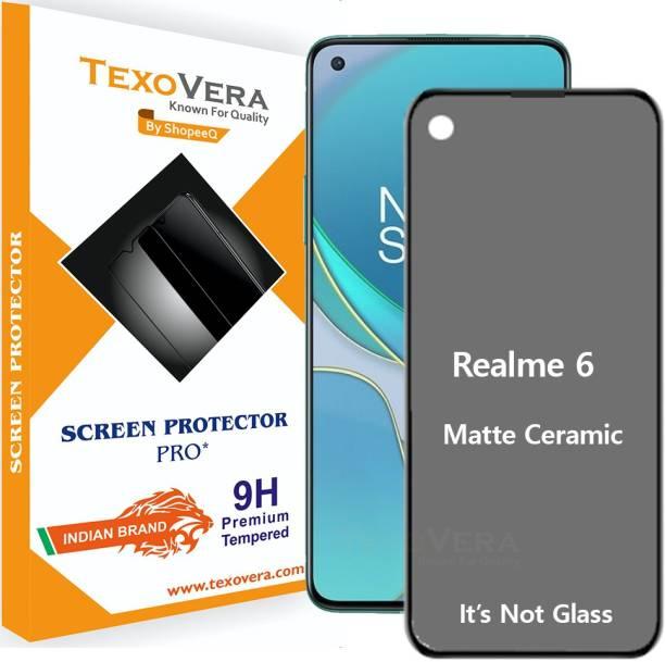 TexoVera Edge To Edge Tempered Glass for Realme 6