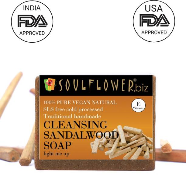 Soulflower Cleansing Sandalwood soap