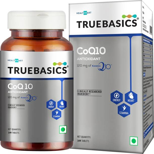 TrueBasics CoQ10 (Coenzyme Q10),120 mg of Kaneka Q10 ,