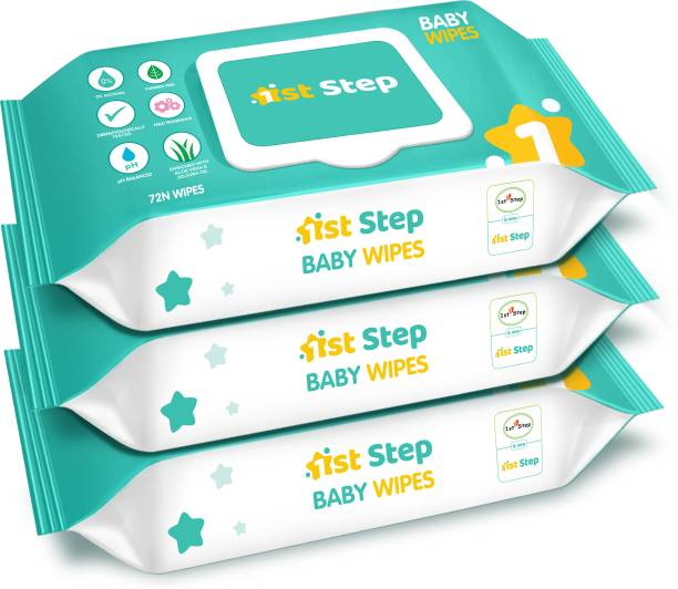 1st Step Baby Wet Wipes With Lid Enriched With Aloe-Vera And Jojoba Oil