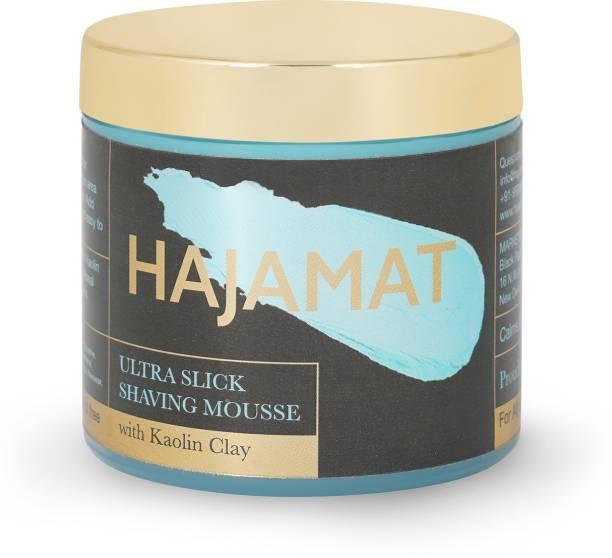 Hajamat Ultra Slick Shaving Mousse with Kaolin Clay| Astonishingly Superior Ultra-Slick Shaving Cream| Paraben & Sulphate Free (100 g)