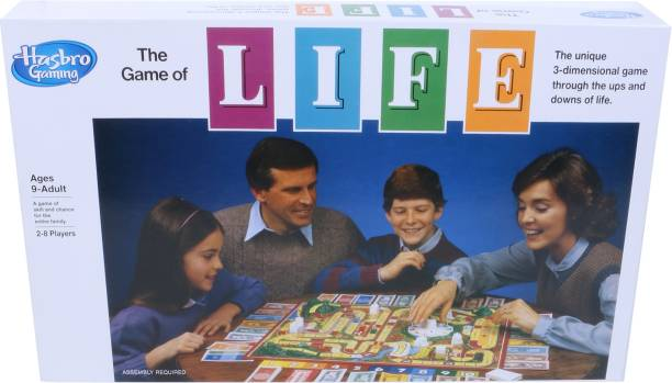 HASBRO GAMING The Game of Life Board Game for Families and Kids Ages 9 and Up, Game for 2-4 Players Strategy & War Games Board Game