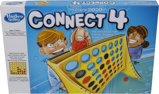 HASBRO GAMING The Classic Game of Connect 4, Connect 4 Grid,Get 4 in a Row Strategy Game for 2 Players Ages 6 & Up Strategy & War Games Board Game