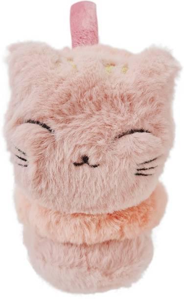 MUKHAKSH Women Winter Woolen Warm Dark Pink Earmuff for cold Weather Ear Muff