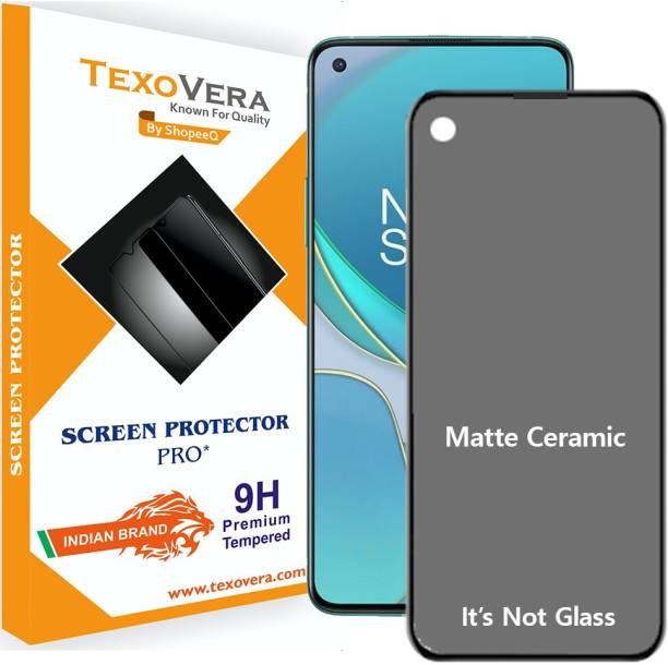 TexoVera Edge To Edge Tempered Glass for Oppo A52, Oppo A72, Oppo A92, Realme 6, Realme 7, Realme 7i, Realme C17, Narzo 20 Pro, OnePlus 8T Matte With Camera cut