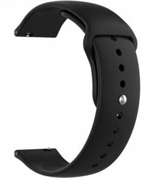 valente Premium Silicone 20 mm Band Strap Compatible with AmazeFit BIP/BIP Lite/AmazeFit GTS, Amazefit GTR (42mm) / RealMe Classic, Smartwatches with 20mm Lugs Smart Watch Strap
