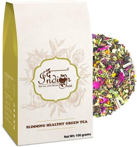 The Indian Chai Slimming Healthy Green Tea Hibiscus, Rose Green Tea Vacuum Pack