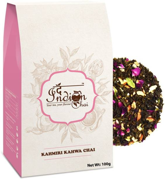 The Indian Chai Kashmiri Kahwa Green Tea Rose Green Tea Vacuum Pack
