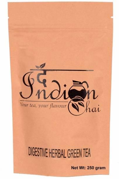 The Indian Chai Digestive Herbal Green Tea Cardamom, Chamomile, Fennel, Ginger, Lavender, Orange, Peppermint Herbal Tea Vacuum Pack