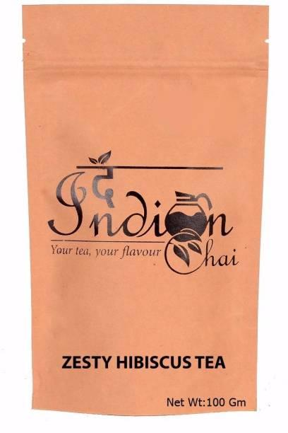 The Indian Chai Refreshing Zesty Hibiscus Herbal Tea Hibiscus, Lemon Grass, Orange, Liquorice, Cloves, Herbs Herbal Infusion Vacuum Pack