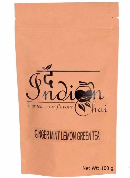 The Indian Chai Ginger Mint Lemon Green Tea Ginger, Mint, Lemon Grass Green Tea Vacuum Pack
