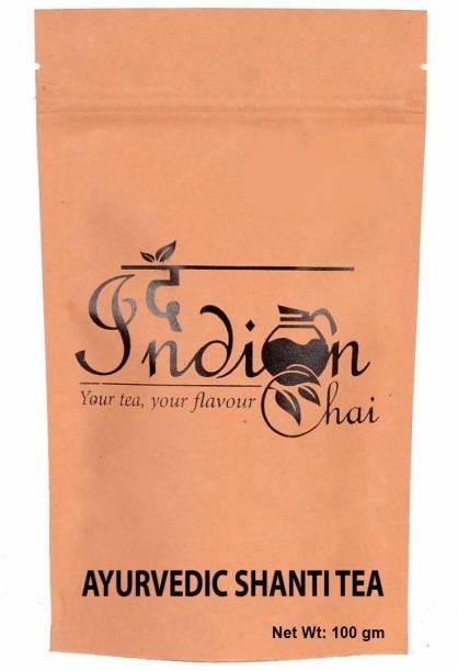 The Indian Chai Ayurvedic Shanti Tea Brahmi Herbal Infusion Vacuum Pack