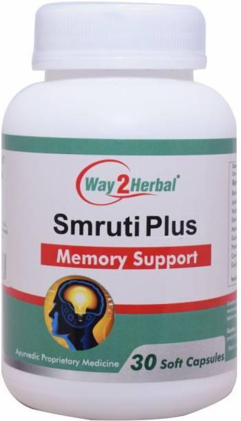 Way2Herbal Smruti Plus Memory Support - 30 Capsule