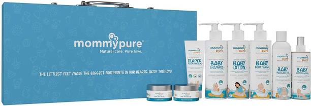 MommyPure Baby Arrival Gift Set | Gift for Newborns & Baby Showers, 8 Clean & Natural Baby Care Essentials