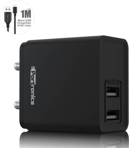 Portronics ADAPTO 649 12 W 2.4 A Multiport Mobile Charger with Detachable Cable