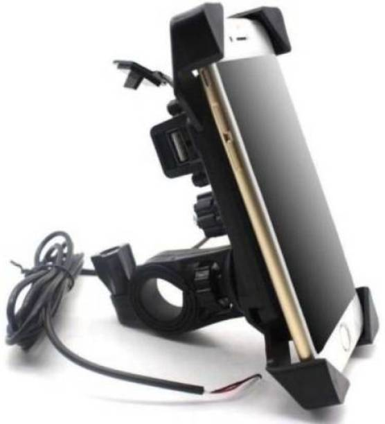 RACRO OIT_01_mi Bike/bicycle mobile holder Stand compatible with all smart phone || 360 degree stand||Mobile Phone Holder Stand|| Anti Shake Fall Prevention||For GPS use|| Sterring Holder Stand||compatible with all android and IOS smart phones-180 Bike Mobile Holder