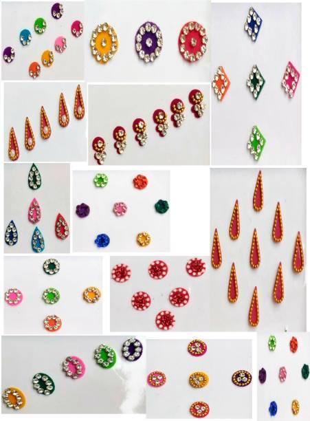Nutri kaya Women Best Bindi Combo pack 15 Flaps Multi color Bindi Forehead Multicolor Bindis