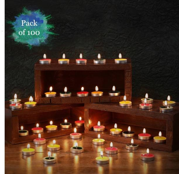 Flipkart SmartBuy 100 Pcs Multicolored Tealight Candle