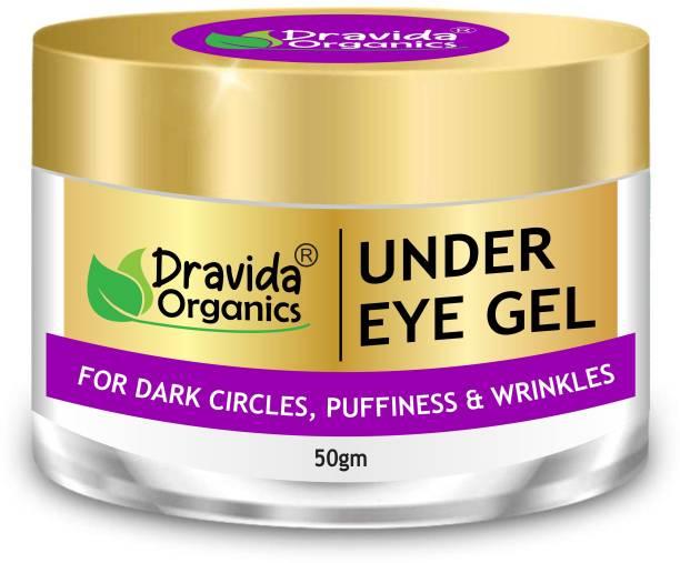 Dravida Organics Under Eye Gel - Dark Circles, Puffy Eyes, Wrinkles & Removal