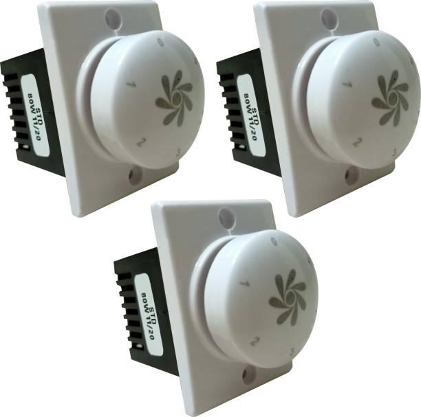 PRV SWITCH 5 STEP -3PC FAN REGULATOR Step-Type Button Regulator High speed -009o Conventional Box Regulator