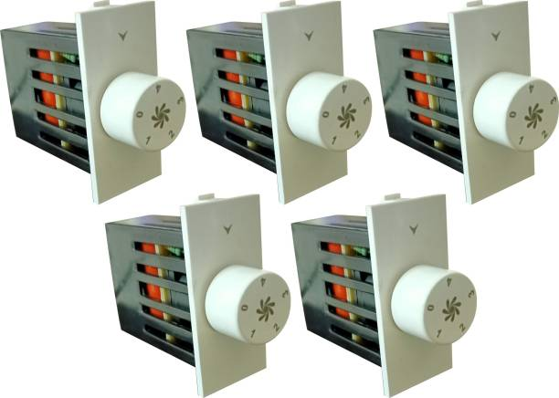 PRV SWITCH 5 STEP -5PC FAN REGULATOR Step-Type Button Regulator High speed -00134 Conventional Box Regulator