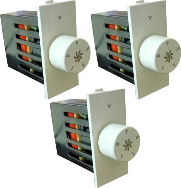 PRV SWITCH 5 STEP -3PC FAN REGULATOR Step-Type Button Regulator High speed -0040 Conventional Box Regulator