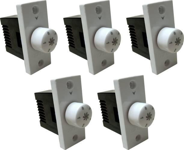 PRV SWITCH 5 STEP -5 FAN REGULATOR Step-Type Button Regulator High speed -0005 Conventional Box Regulator